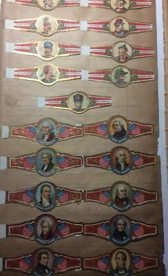 1900s ANTIQUE CIGAR BAND Collection  Album Pages International Presidents