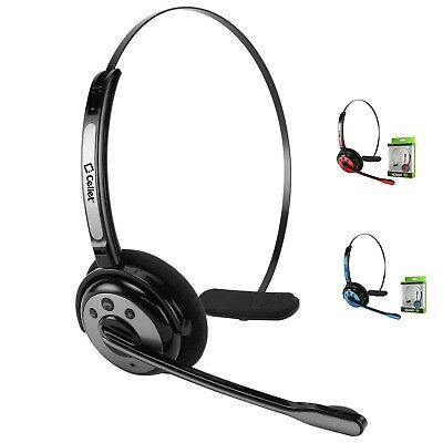 Truck Driver Over Head Bluetooth Wireless Noise Cancelling Headset with Boom Mic