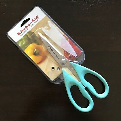KitchenAid ALL PURPOSE KITCHEN SHEARS NEW! AQUA SKY HANDLE STAINLESS STEEL BLADE