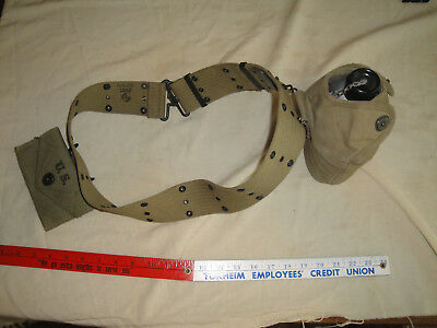 Wwii Us Army Marine Corps Web Belt, Canteen, Cup, Carrier, Pouch Most 1942 Issue