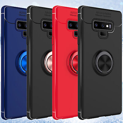 For Samsung Galaxy S10+ S9 Magnetic Ring Holder Shockproof TPU Armor Case Cover