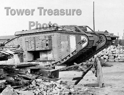 World War I  ***  Mk. IV TANK   ***  1918  Battle of Amiens  Photo (8.5 x 11)