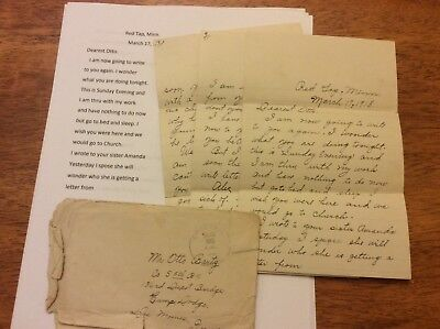 WW1 letter to sweetheart Co S 5th BN,  at Camp Dodge, Iowa news  transcription