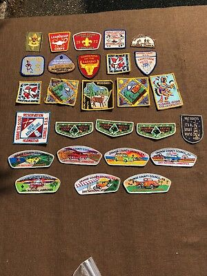 Nice Vintage Bsa Boy Scouts Of America Bsa Patches Badges Mixed Lot Of 27