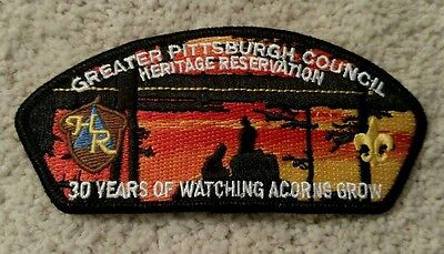 Rare! Greater Pittsburgh Council Bsa Heritage Reservation 30Th Anniversary Csp