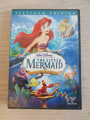 Walt Disney The Little Mermaid Platinum Edition  DVD (2006 DVD Release) Used