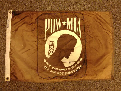 Vietnam Large Original Pow--Mia Flag Banner Vintage Military Double Sided