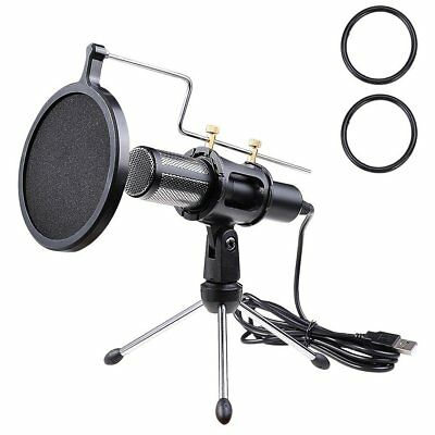 Yescom Condenser USB Microphone with Tripod Stand for Game Chat Skype YouTub ...