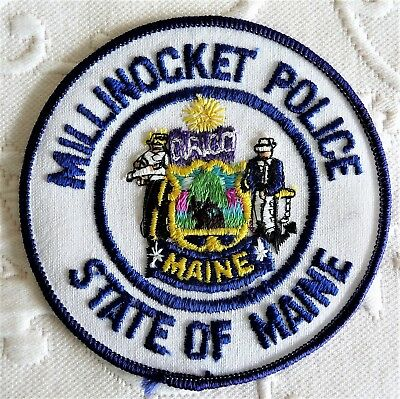 Millinocket Police Uniform Patch  --  State of Maine Souvenir
