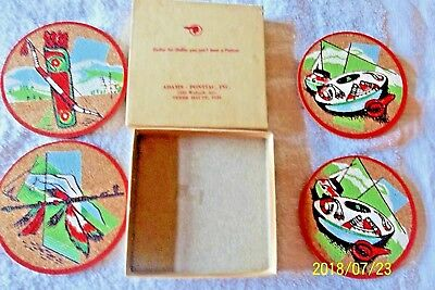 Terre Haute,ind. Adams Pontiac Promo== Cork Coasters 1950's New In Original Box