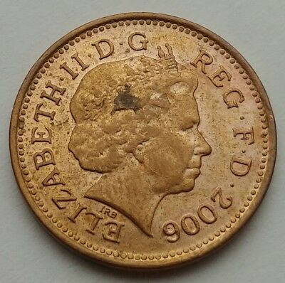 Great Britain, UK 1 Penny 2006. One Cent Coin. Elizabeth II.