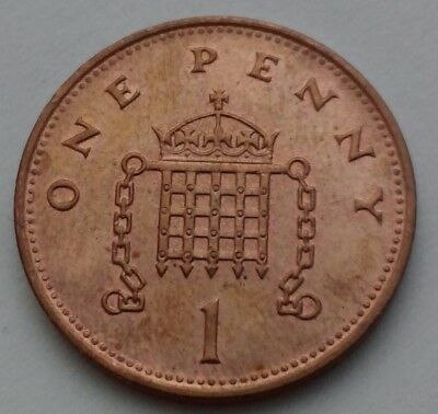 Great Britain, UK 1 Penny 1994. One Cent Coin. Elizabeth II.
