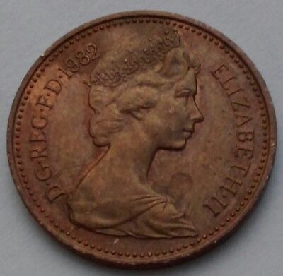 Great Britain, UK 1 Penny 1982. One Cent Coin. Elizabeth II.