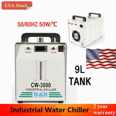 110V Industrial Water Chiller CW-3000 for 60W /80W CO2 Laser Tube Cooler NEW USA