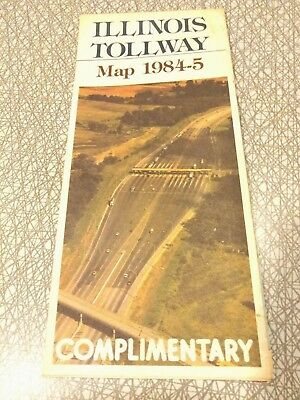 VINTAGE ILLINOIS TOLLWAY Road Map 1984-85 State Toll Highway Authority on illinois road conditions interactive map, illinois state road map, illinois real estate map, illinois turnpike map, illinois road map online, illinois tollway oasis, illinois restaurant map, illinois dot construction map, e-470 tollway map, illinois department of transportation, northwest tollway, indiana illinois road map, illinois unpaid tolls, illinois state region, illinois natural gas pipeline map, winter road conditions illinois map, illinois state map with counties and cities, northeastern illinois road map, tri-state tollway, illinois road closure map, illinois route 47 map, illinois 4th congressional district map, chicago skyway, road construction in illinois map, illinois highway names,
