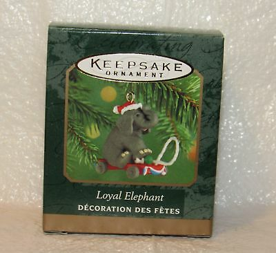 Loyal Elephant`2000`Miniature-Handcrafted & Die Cast Metal,Hallmark Ornament