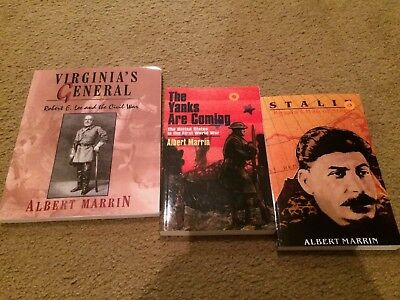 Lot 3 Albert Marrin titles: Stalin, The Yanks Are Coming, Virginia's General