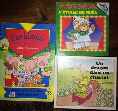 Lot of 3 French children's picture books for young children