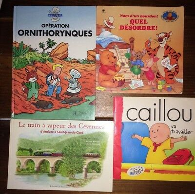Lot of 4 French children's picture books for children