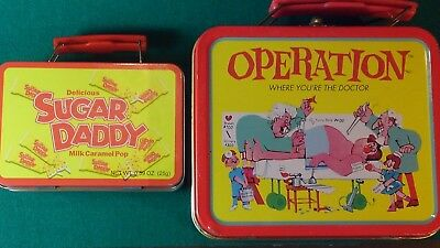 Operation Vintage  Lovely Tin Metal  Lunch Box 1990's Lunchbox Sandwich Box