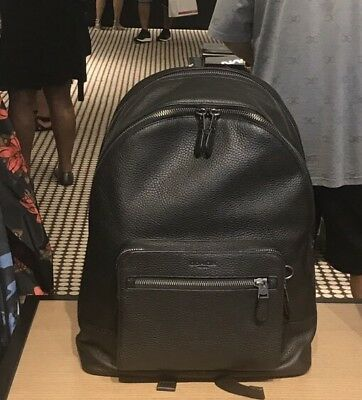 Coach Men's West Backpack In Black Pebble Leather F23247 $595