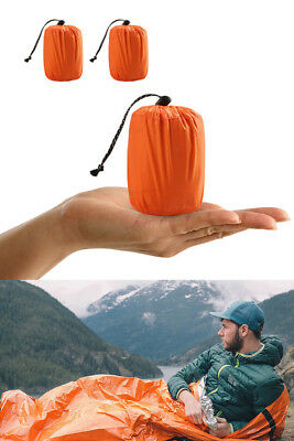 Double Reusable Emergency Sleeping Bag Thermal Waterproof Survival Camping Bags