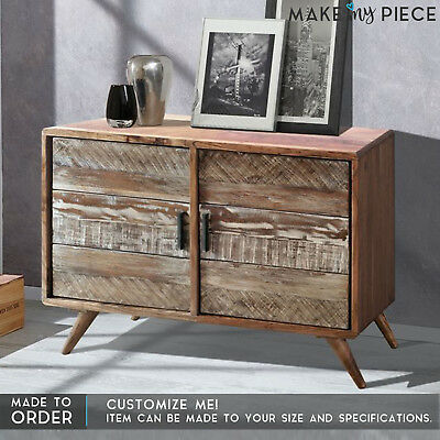 Made To Order Ashley Reclaimed Wood Sideboard Buffet Hutch Console Whitewash