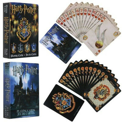 1 Box Playing Cards Deck Travel Game For Harry Potter Symbols / Hogwarts House