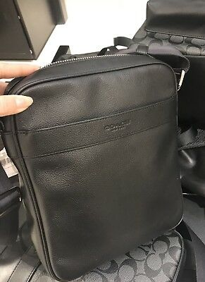 Coach Men's Flight Bag Black In Smooth Leather F54782 NWT
