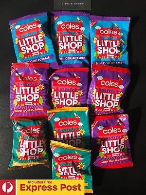 10x COLES LITTLE SHOP MINI COLLECTABLES UNOPENED & NEW IN PACKET - EXPRESS POST!