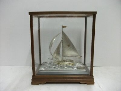 The sailboat of silver970 of Japan. #82g/ 2.89oz. Japanese antique