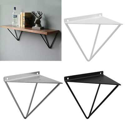 2PCS Durable Hairpin Industrial Wall Shelf Support Bracket Metal Prism Mount UK