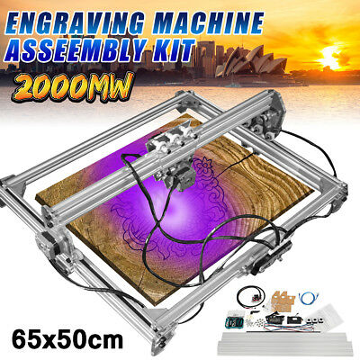 2000MW 65*50cm DIY Laser Engraving CNC Carving Engraver Carved Printer Machine