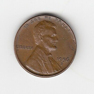 1956D Usa Lincoln 'wheat' One 1 Penny/cent - Very Nice Vintage Coin