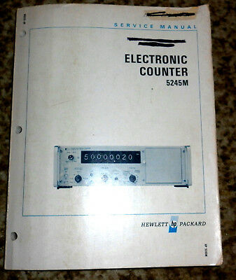 Service Manual Hewlett Packard, HP 5245 M ( Electronic Counter ), siehe Bilder,