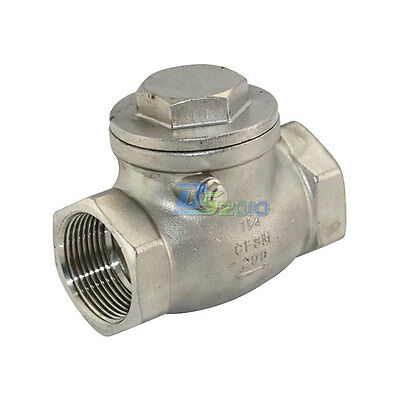"""1-1/4"""" Stainless Steel Swing Check Valve WOG 200 PSI PN16 SS SUS 316 CF8M UK"""
