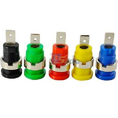 4MM Banana Plug socket speaker binding post screw connector 5 Colors UK Seller