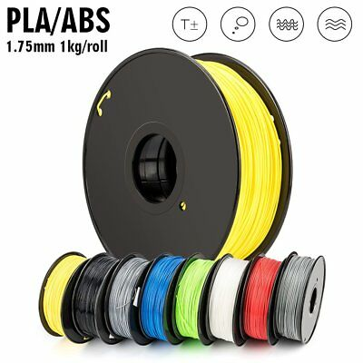 3D Printer Filament 1.75mm PLA ABS PC PETG TPU 1KG Colours Engineer Drawing Art