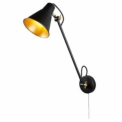 WANDLEUCHTE SEARCHLIGHT INDUSTRIE-LOOK 6302BK Vintage ...