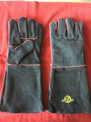 1 Pair Leather Durable WELDERS GAUNTLET GLOVES Safety Workwear - New