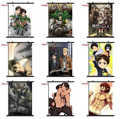 Attack on Titan anime manga Wallscroll Stoffposter 21x30cm E