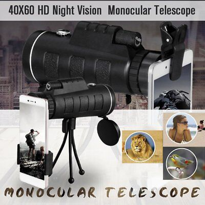 40x60 Monocular Telescope Outdoor HD Vision Hunting Military Monoculars 1Z