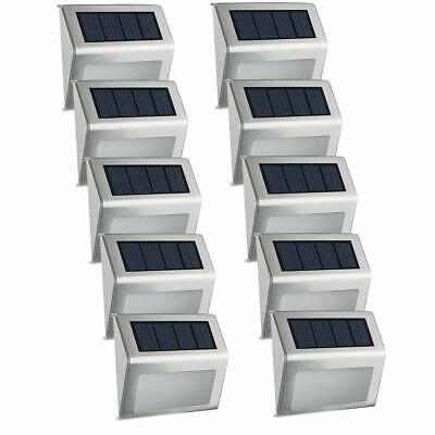 Solar Powered 4 LED Outdoor Security Gutter Lights for Pathway Garden Fence Roof