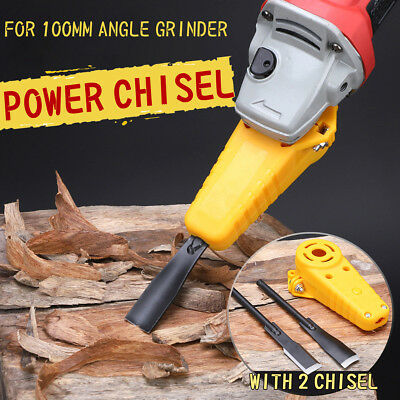 """Electric Wood Carving Chisel Woodworking Power Tool Kit For 4"""" 100 Angle Grinder"""