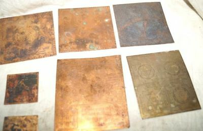 Antique Old Copper Sheet emboss 10 Yantra Mantra