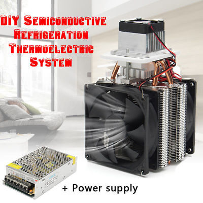 12V Semiconductor Refrigeration Thermoelectric Air Cooler+Power Supply Durable