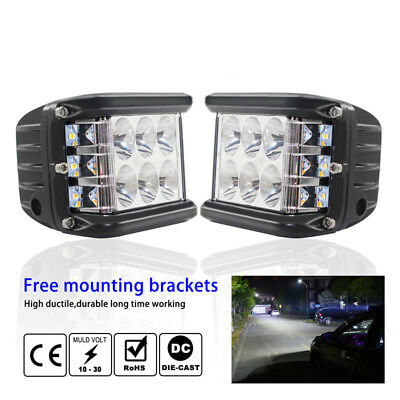 4'' 45W LED Work Spot Light Flood Off-Road Driving 4WD Car Roof Truck SUV Lamp