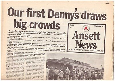 Australia ANSETT AIRLINES Staff Newspaper, 1983 16 pages of news about the Group