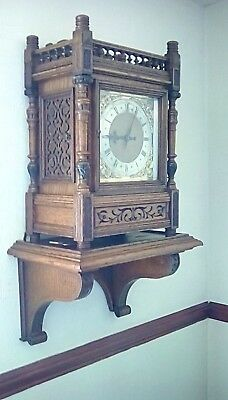 large antique boardroom double fusses bracket clock