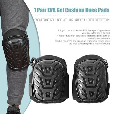 2X Gel Filled Knee Pads For Work Professional Gel Knee Pads+Adjustable Strap 1Z